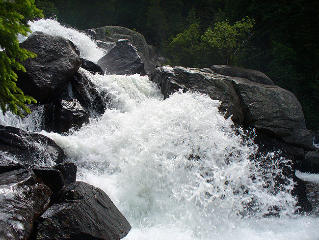 Cascade Falls roaring down North Inlet Creek