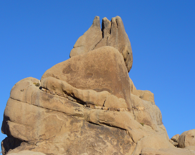 The Tulip, one of many striking geologic formations along the Split Rock Loop