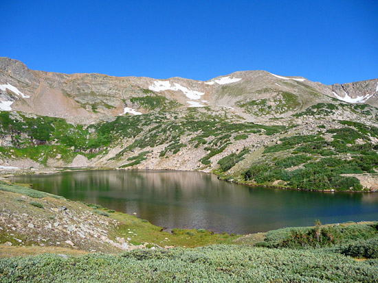 The Arapaho Lakes in the James Peak Wilderness