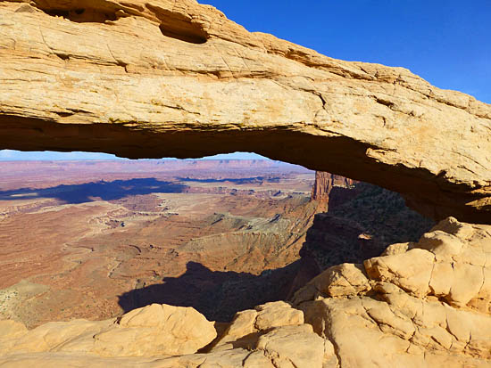 Mesa Arch in the Island in the Sky District of Canyonlands