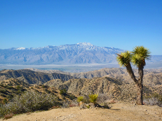 View across the Coachella Valley from Eureka Peak