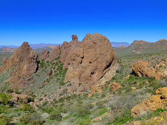 Green Boulder from Prospectors View