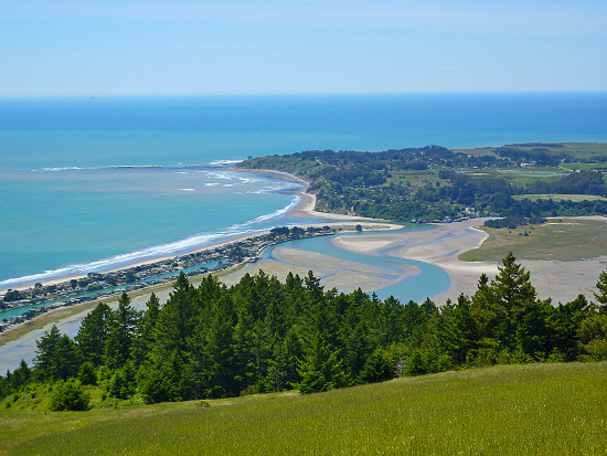 Bolinas Lagoon and Stinson Beach from the McKennan Gulch Trail