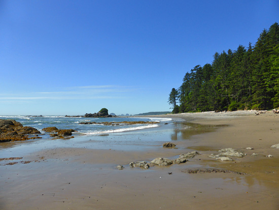 Open beach travel on the Olympic Coast