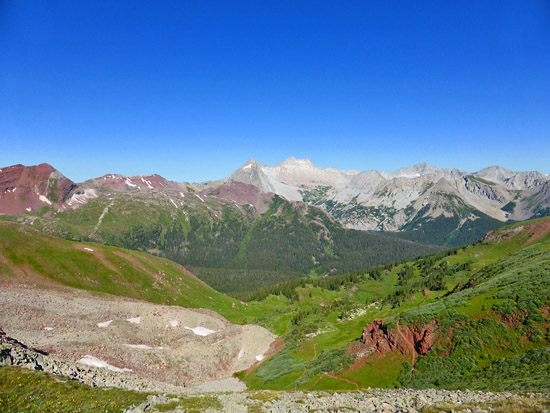 View from Buckskin Pass (12,462')