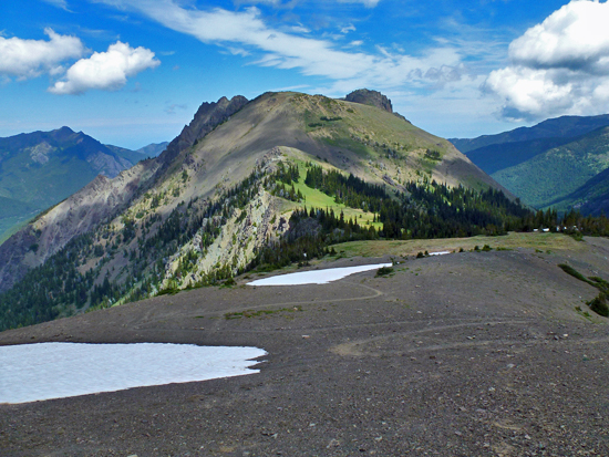 Views of Buckhorn Pass from the base of Buckhorn Mountain