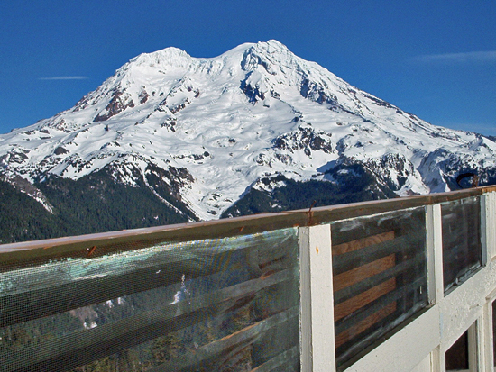View of Mount Rainier (14,409') from the Gobbler's Knob Lookout (Photo: NPS)