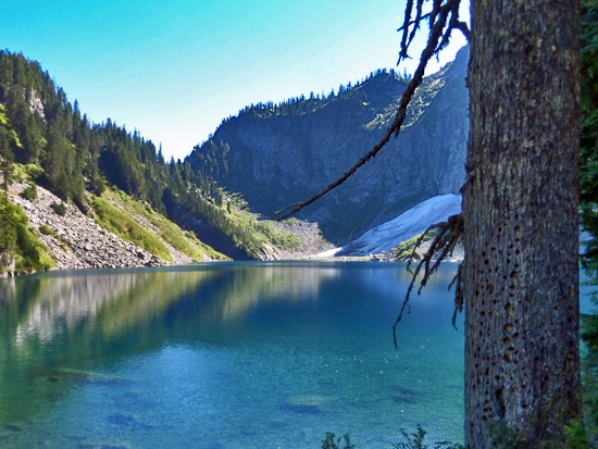 Lake Serene rewards a strenuous 1400' climb up 23 switchbacks on the flanks of Mt Index