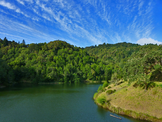 Phoenix Lake - one of 5 lakes in the Marin County Watershed