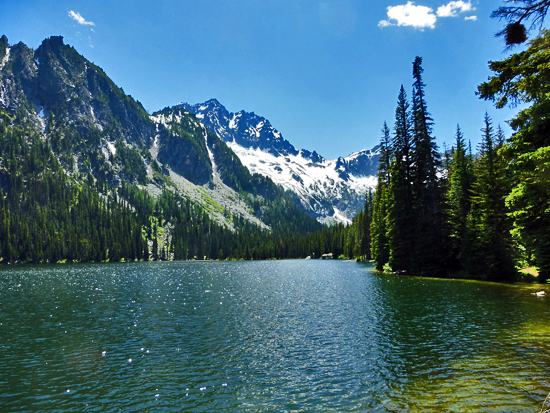 Lake Stuart (5,064') in the Alpine Lakes Wilderness